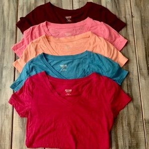 Bundle of 5 Mossimo XS Fitted V Neck Shirts